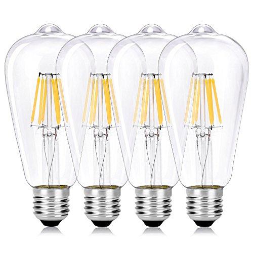 Wedna 6W LED ST64 Glühbirne