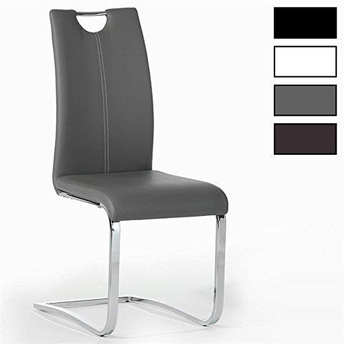 IDIMEX Schwingstuhl Esszimmerstuhl Saba, Set mit 4 Stühlen in Chrom, Farbauswahl