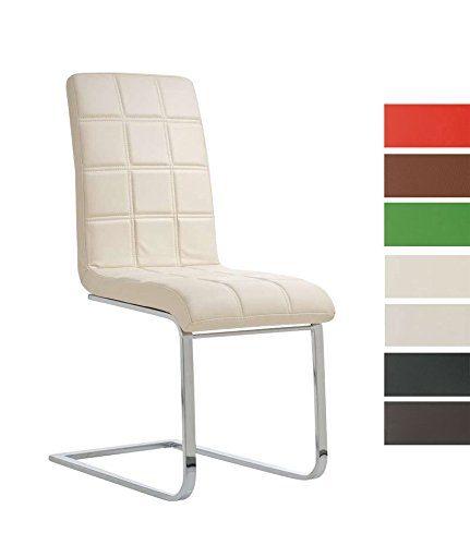 CLP Freischwinger EMILY mit hochwertiger Polsterung und Kunstlederbezug I Ergonomischer Schwingstuhl mit Metallgestell und einer Sitzhöhe von: 50 cm