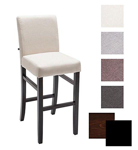 CLP Holz-Barstuhl Alvin mit Hochwertiger Polsterung und Stoffbezug I Barstuhl mit Einer Sitzhöhe von 75 cm I In Verschiedenen Farben erhältlich