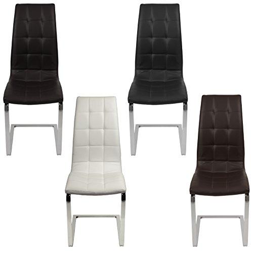 ESTEXO® 2/4/6/8x Esszimmerstuhl Freischwinger, Küchenstuhl, Schwingstuhl, Esszimmerstühle, Sitzgruppe, Stuhlgruppe