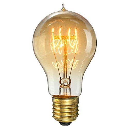 KINGSO 60W E27 Edison Vintage Lampe Antike Glühbirne Ideal für Nostalgie und Retro Beleuchtung 220V 1 Pack