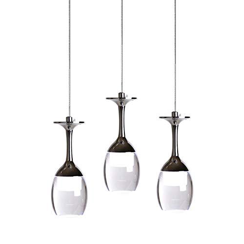 3wx3 Licht Tasse Leuchterlicht Weinglas LED Pendelleuchte - für Wohnzimmer- Bar Salon Esszimmer Hangeleuchte