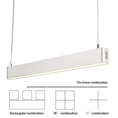 KJLARS 36W LED Pendelleuchte Büroleuchte Deckenleuchte Hängeleuchte , Büro Hängelampe,höhenverstellbar,Pendellänge maximum 150 cm,1200*30*80mm, für hängeleuchte esstisch , Arbeitszimmer,Wohnzimmer Pendellampe