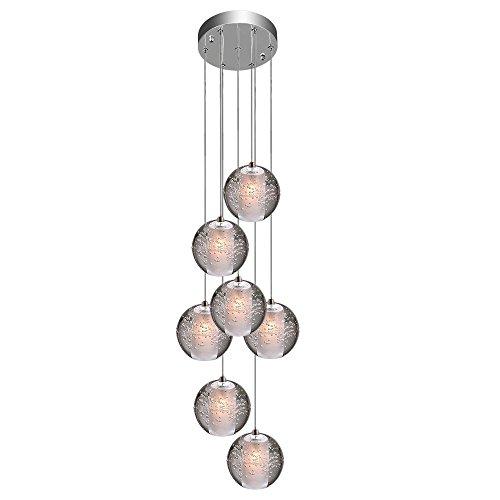 KJLARS Pendelleuchte LED Moderne Pendellampe Hängeleuchte Höheverstellbar Kronleuchter geeignet für Wohzimmer Esstisch, Treppe, Schlafzimmer Deckenleuchte Hängelampe