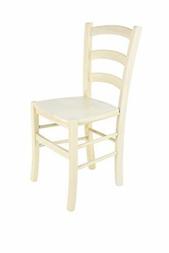 Tommychairs - 2er Set Stühle Venice für Küche und Esszimmer, Robuste Struktur aus lackiertem Buchenholz in der Anilinfarbe Weiss und Sitzfläche aus Stroh