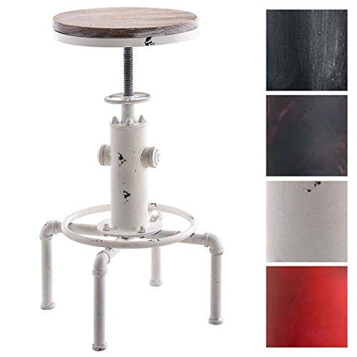 CLP Metall-Barhocker Lumos mit höhenverstellbarem Holzsitz I Thekenhocker mit Fußstütze I In Verschiedenen Farben erhältlich