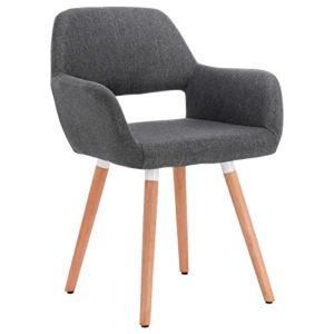 WOLTU-1-Stck-Esszimmerstuhl-Kchenstuhl-Wohnzimmerstuhl-Design-Stuhl-Retro-Stuhl-Polsterstuhl-mit-Arm-und-Rckenlehne-Dicke-Polsterung-aus-Leinen-Massivholz-891-0
