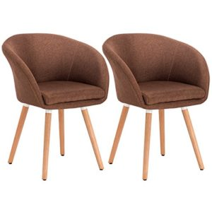 WOLTU-2er-Set-Esszimmersthle-Essgruppe-Kchensthle-Wohnzimmersthle-Design-Stuhl-Retro-Stuhl-Polsterstuhl-mit-Arm-und-Rckenlehne-Stuhlgruppe-Sitzflche-aus-Leinen-Holz-808-0