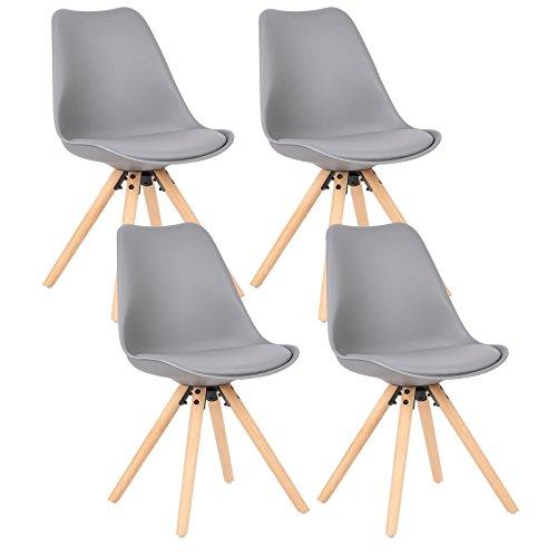 WOLTU-4-x-Esszimmersthle-4er-Set-Esszimmerstuhl-mit-Sitzflche-aus-Kunstleder-Design-Stuhl-Kchenstuhl-Holz-Grau-BH52gr-4-0