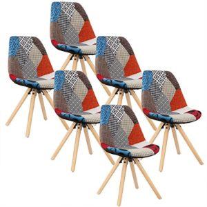 WOLTU-6-x-Esszimmersthle-6er-Set-Esszimmerstuhl-mit-Sitzflche-aus-Leinen-Design-Stuhl-Kchenstuhl-Holz-Patchwork-Mehrfarbig-BH52mf-6-0